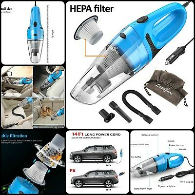 High Power Car Auto DC Portable Handheld Wet Dry Vacuum Cleaner HEPA Filter 12V