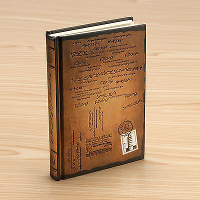 GOLD - Retro Vintage Notebook Journal Diary Sketchbook Hard Cover Thick Blank