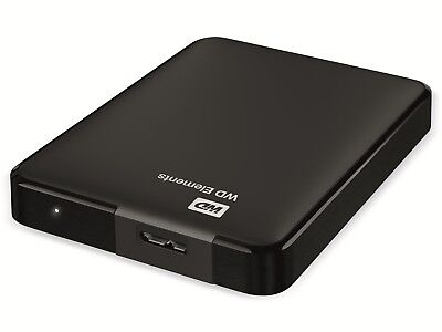 "USB3.0 HDD WESTERN DIGITAL Elements Portable, 4 TB, 2,5"", schwarz"