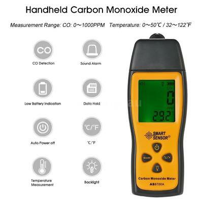 Carbon Monoxide Meter with CO Gas Tester Monitor Detector Gauge 1000ppm Lot  VR