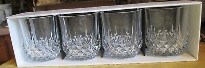 Cristal D'Arques Longchamp 24% Lead Crystal Set of 4 in box