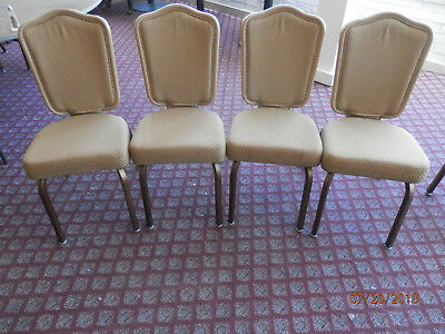 200+ GASSER 8810 Dining/Ballrom chairs Neutral upholstery Very good to Xlant