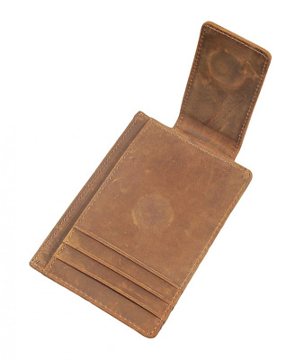 Mens Money Clip Wallet RFID Slim Genuine Leather Thin Front Pocket US Shipping