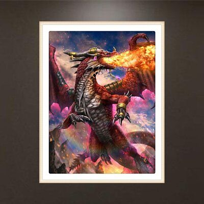 Fire Dragon Pattern 5D Diamond Painting Embroidery Cross Stitch Art Pictures GU