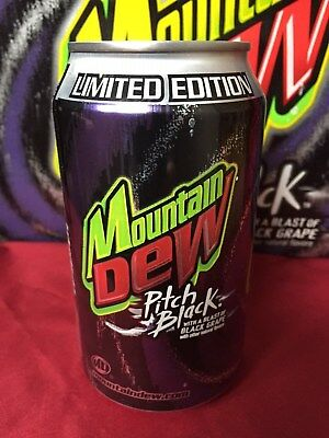 Mountain Dew Pitch Black Original Grape Formula Can 2004