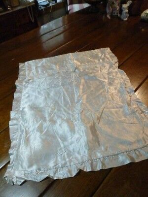 """Antique White Silk Satin Hand embroidered Floral Pillow 31 x 25"""""""
