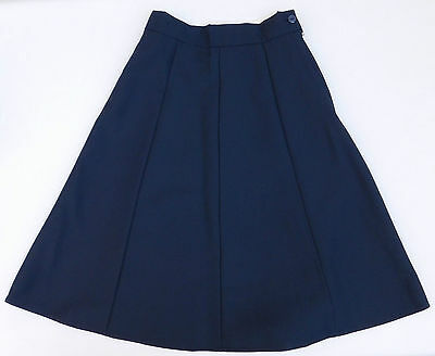 "Vintage 1970s skirt Banner girls school uniform Navy Blue UNUSED Waist 26"" 24L C"