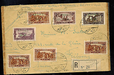 1926 Syria Cover airmail to Switzerland
