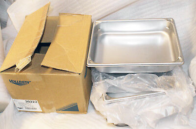 "Lot 6 VOLLRATH 30222 1/2 Size Stainless Steel Steam Table Hotel Pan 2-1/2"" Deep"