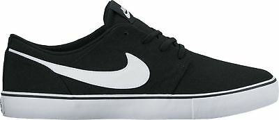 Nike SB Portmore II SS Canvas Shoes Mens in Black White