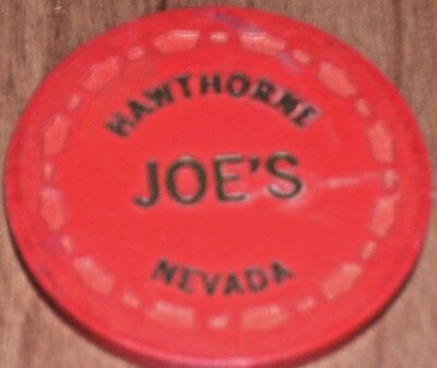 $ .25 Fractional Gaming Chip From Hawthorne Joe's Tavern Casino In Hawthorne, Nv