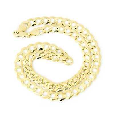 """Men's Solid 14k Yellow Gold Comfort Cuban Curb Heavy 8.3mm Chain Necklace, 22"""""""