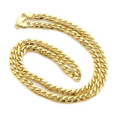 """Beauniq  Solid 14k Yellow Gold 6.0mm Heavy Miami Cuban Link Chain Necklace 22"""""""