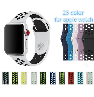 Silicone Strap Replacement Sport Band Strap 38mm 42mm Nike+ Apple Watch 1 2 3