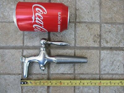Vintage Unused (Old Stock) Brass Chromed Tap Barrel Spigot Marked Nº 6