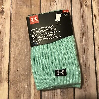 UNDER ARMOUR GIRLS YOUTH UA Sport Leg Warmers Teal New Cold Gear