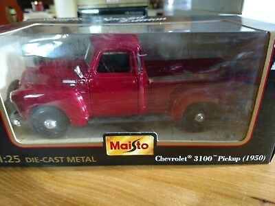 NIP 1950 Chevrolet 3100 Pick Up Truck 1:25 Scale Red Special Edition