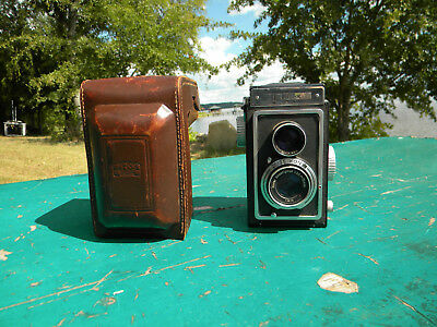 Zeiss Ikoflex TLR Camera In Case Novar 1:3.5 f=75mm Taking Lens