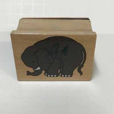 Mounted African rubber stamp safari ELEPHANT FRIENDS sm friendship #17 love