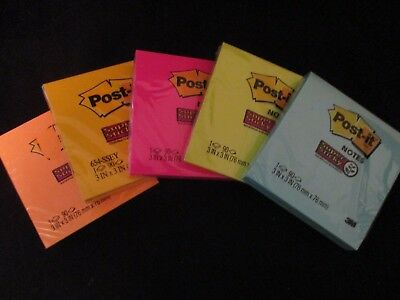 """3M POST-IT  Notes 3"""" X 3"""" Super Sticky Assorted Bright Colors ONE PAD {CHOOSE}"""