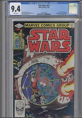 """Star Wars #61 CGC 9.4 Marvel 1982 """" Death"""" of Shira Brie: Key Issue  NEW Frame"""