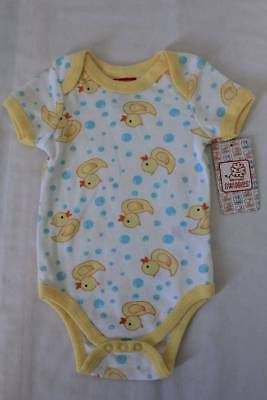NEW Baby Boys Bodysuit 3 - 6 Months Creeper Outfit Rubber Duck Ducky Cute