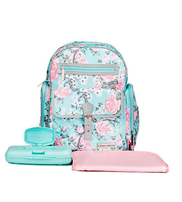 Laura Ashley Backpack Diaper Bag with matching changing pad