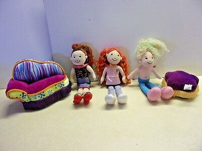 3 Groovy Girls Dolls Fainting Couch Ottoman