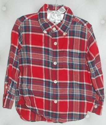 Baby Gap Boy Long Sleeve Plaids & Checks Shirt Euc 2T Nnn