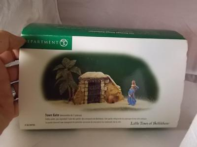 Department 56 Little Town Of Bethlehem Town Gate New In Box Christmas Village