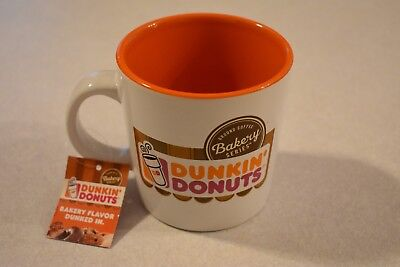 Dunkin Donuts Bakery Series COFFEE CUP Mug NWT NEW YUM TIME TO MAKE THE DONUTS