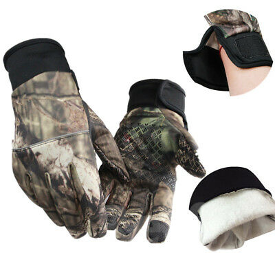 New Outdoor Camo Riding Gloves Anti-slip Warm Keeping Fleece Touch Screen Gloves
