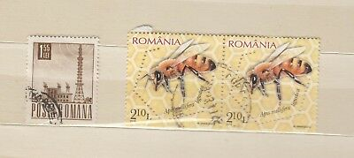 Romania - 3 used stamps - ( Lot 167 )