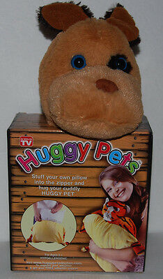 Huggy Pets Puppy Dog Stuff your own pillow NEW As Seen On TV 3-12 Years Plush