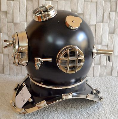 Antique Brass Scuba Deep Sea Diving Divers Helmet Mark V U.S Navy Vintage 18""