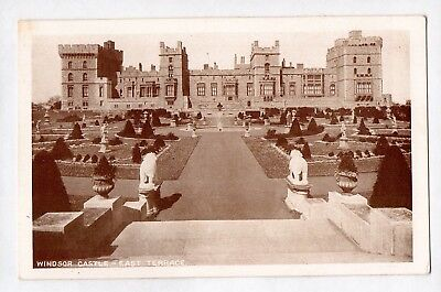 E4048cgt UK Windsor Castle East Terrace vintage postcard