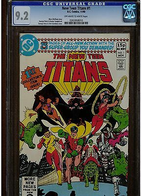 New Teen Titans #1 Cgc 9.2 Uk Edition Variant 1980 Low Printing Owtw Pages Htf
