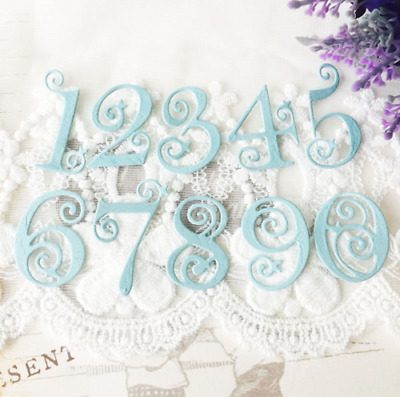 Newly 0-9 Numbers Cutting Dies Card Craft Lace Stencil Scrapbooking Embossing