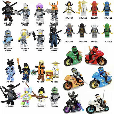 For Ninjago Sensei Wu Kai Zane Jay Cole Lioyd Garmadon model