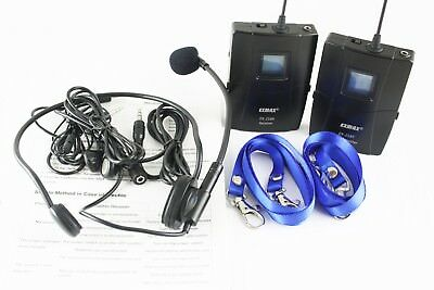 EX-218 UHF Wireless Tour Guide System for Assistive hearing meeting teaching PRO