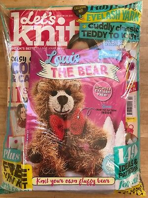 Brand New OCTOBER ISSUE OF Lets Knit magazine. Issue Number 136