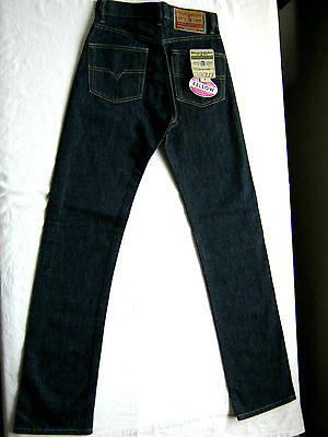 Diesel Industry Nuovo New Tg 40 W 26 Indigo Dark Blue Denim Jeans