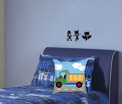 Pj Masks Wall Stickers 8 Decal With Glow In Dark Catboy Owlette Gekko Room Decor Home Decor Home Garden Home Decor