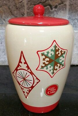 COCACOLA COOKIE JAR CANISTER Classic Collectible Ceramic SNOWFLAKE