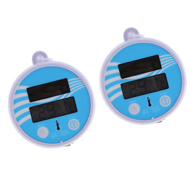 2x Digital Floating Swimming Pool Solar Power Thermometer Water Temperature