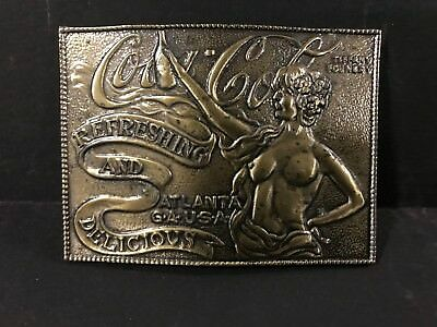 Vintage 1960s COCA COLA BELT BUCKLE from the TIFFANY Foundry - Solid Brass