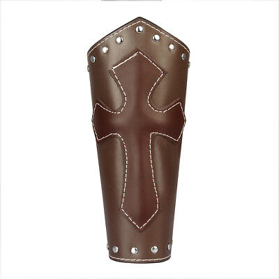 Retro Medieval Knight Leather Arm Guard Bracers Cosplay Costume Arm Guard