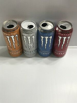 Monster Energy Drink Ultra 16oz TOP OPEN Rare First Edition Cans See Details
