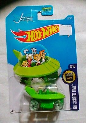 THE JETSONS CAR Hot Wheels Spaceship DIECAST Vehicle UFO Cartoon Space Car NEW