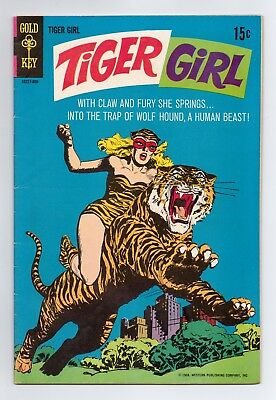 Tiger Girl #1 (Gold Key 1968) Sparling Cover & Art! Battles Wolfhound!